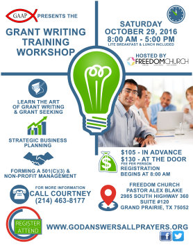 Show Me the Money! Free Grant Writing Workshop Offered to ...